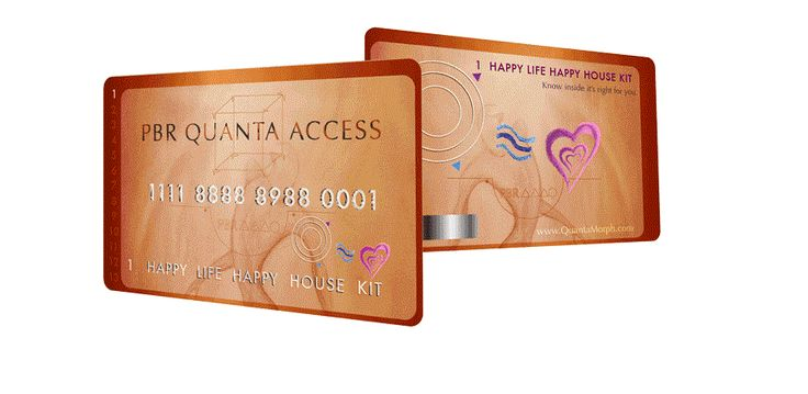 Happy Life Happy Home Quanta Morph card that you just place in your pocket, wallet or handbag to harmonize you 24/7 a day including from Radio Frequency wireless radiation.