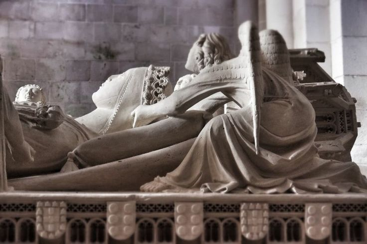 Tomb of Ines de Castro at the church of the monastery at Alcobaca, Portugal
