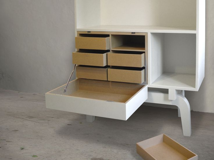 legs collection   TOM FRENCKEN   cabinet made of birch plywood to stuff and display your collectables..