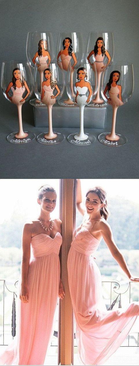 pink bridesmaid dress, bridesmaid gift, long bridesamid dress,junior bridesmaid dresses