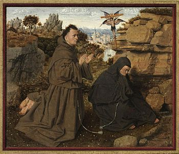Van Eyck, Stigmate di San Francesco, 1428, Olio su tavola, Philadelphia Museuo of Art, Philadelphia.