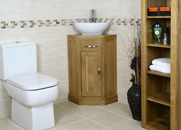 Eckwaschbecken mit Unterschrank fürs Badezimmer!