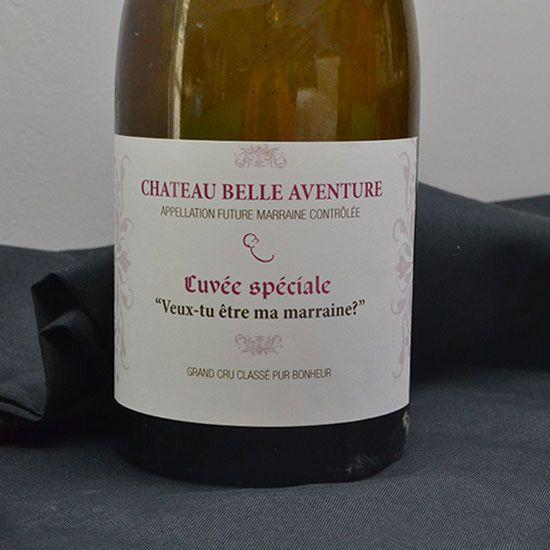 Etiquette vin marraine