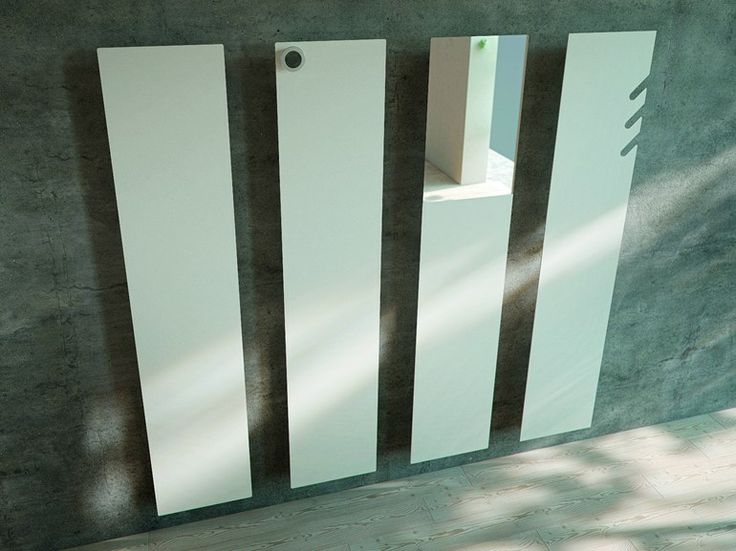 Wall-mounted vertical aluminium decorative radiator TAVOLA Griffe Line by ANTRAX IT | design Andrea Crosetta