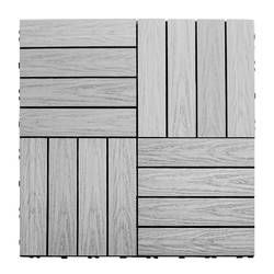 "NewTechWood Naturale Composite 12"" x 12"" Interlocking Deck ..."