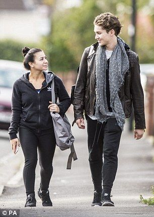 Practice makes perfect: Claudia Fragapane and AJ Pritchard headed to a dance studio in Bristol on Thursday