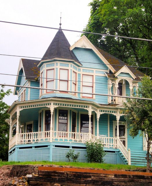 Blue Queen Anne Victorian Charles Huntley historic house 2 | Flickr - Photo Sharing!