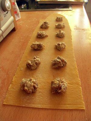 Traficantes de sabores: Ravioli caseros de queso azul y cebolla caramelizada