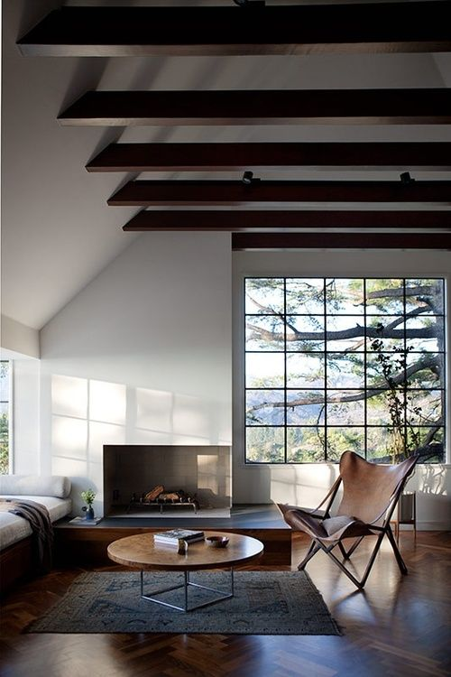 25 best ideas about exposed beam ceilings on pinterest for Vaulted ceiling exposed beams