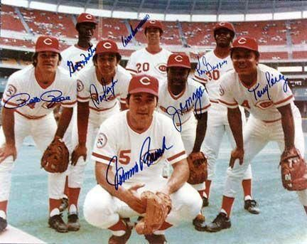 The Big Red Machine: the 1970's Cincinnati Reds, managed by Sparky Anderson.  The Reds dominated the National League from 1970 to 1976, recognized as among the best in baseball.  Over that span, the team won five National League Western Division titles, four National League pennants, and two World Series titles.