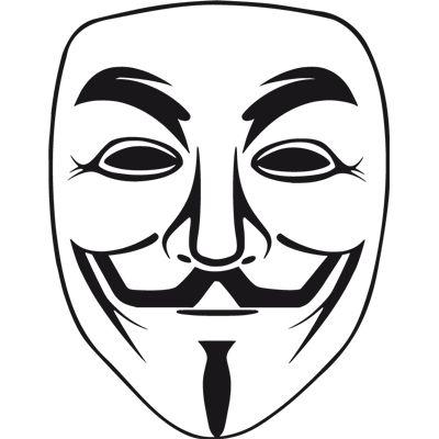 Anonymous. Pegatina en vinilo recortado para coche o pared