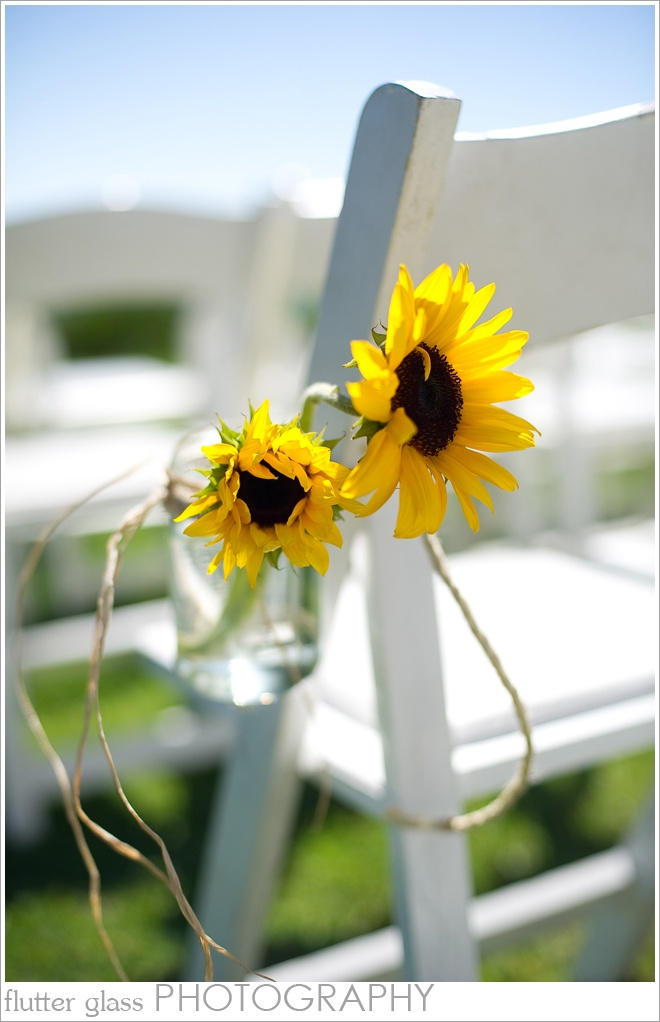 diy wedding aisle decor - just tie the main flower to the end chair with twine! For the Grandparents chairs :)
