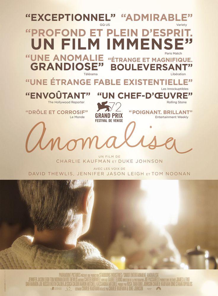 Anomalisa est un film de Charlie Kaufman avec David Thewlis, Jennifer Jason Leigh. Synopsis : Michael Stone, mari, père et auteur respecté de « Comment puis-je vous aider à les aider ? » est un homme sclérosé par la banalité de sa vie. Lors d'u