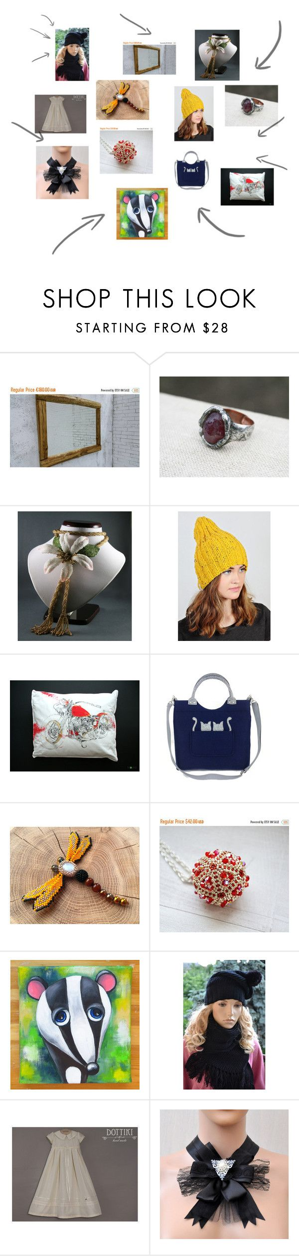 """""""Beauty's from Etsy!"""" by polymeranna on Polyvore featuring Harley-Davidson"""