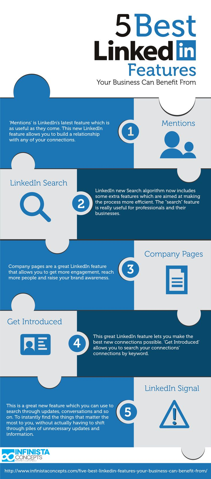 Mejores 8 imgenes de linkedin tips tendencias infografas en las 5 mejores caractersticas de linkedin para tu empresa infografia infographic socialmedia malvernweather Image collections