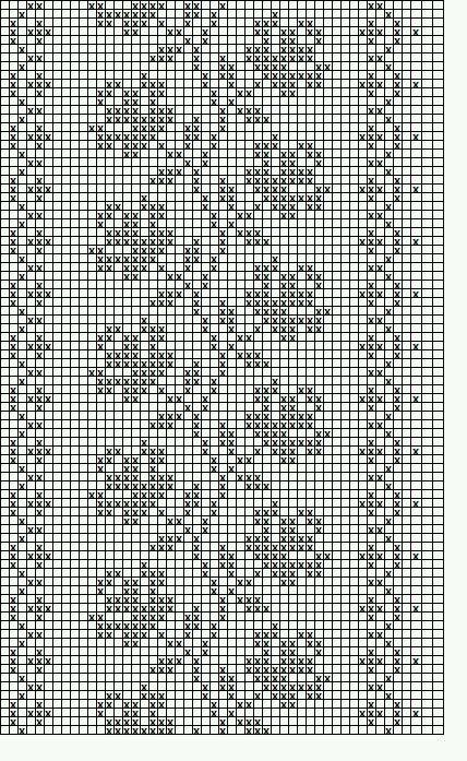hkl crochet or Cross Stitch border filet mono rose