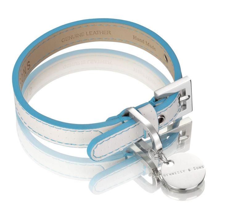 Polo white & blue collar