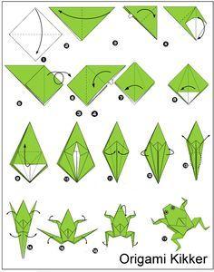 Exodus 8: Plaag met de kikkers. Origami kikker vouwen