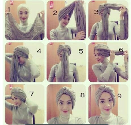 Turban tutorial- I recommend it with an under-scarf and another scarf draped around the neck