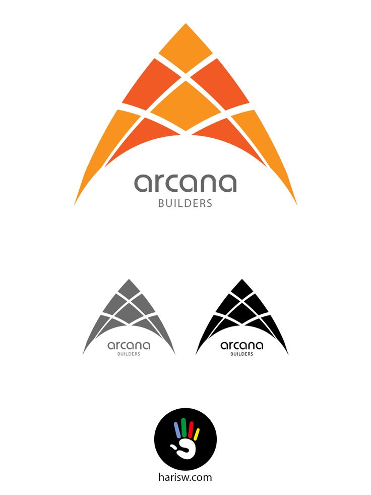 Arcana Logo, Builders logo, Orange, Branding - Created by: Hariswebdesign, Haris Karat, Webdesigner, Creative Logo :: www.harisw.com