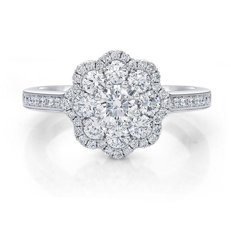 Round brilliant cut diamond #diamond #dress #ring by Diamonds International Brisbane. #LoveDI #sparkle #diamonds #jewelry #vintage #fashion #Brisbanejeweller #DiamondRing