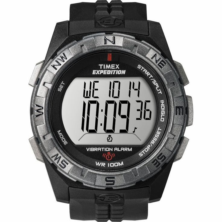"Brand New Timex Expedition Vibrate Alert Watch - Full Size - Black ""Item Category: Outdoor"" (Sold Per Each) $45.49 http://roksmu.blogspot.com/2014/07/expedition-watches.html"