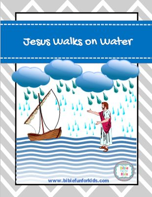 Jesus walks on Water lesson, ideas and printables  #Biblefun #lifeofjesus #NTBiblelesson #preschoolbiblelessons