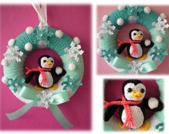 Crochet Pattern wreath pattern Crochet by Petrapatterns on Etsy