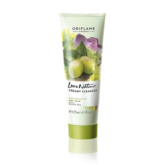 Love Nature Creamy Cleanser Olive Oil Creamy cleanser instilled with all-natural Olive Oil removes make up as well as contaminations without over-drying, to leave skin feeling tidy and also nourished. 125ml