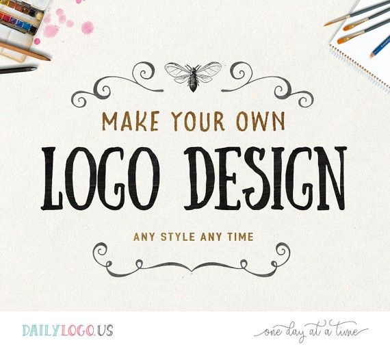 DIY pre-made logo design DIY logo premade logo watercolor floral logo vintage logo business logo website logo blog logo photography logo design --------------------------------- Welcome to Daily Logo on Etsy! Our shop is going to be closed before summer because we do not have time at the moment - please visit us at our website DailyLogo.US and we look forward to working with you~ --------------------------------- Introducing Make Your Own Logo Design - a super easy and affordable way t...