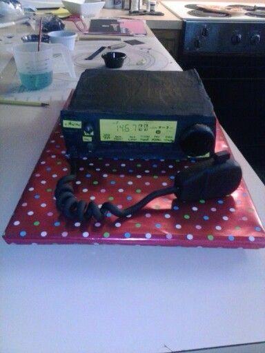 Ham radio cake  Novice cake decorator in 2019  70th birthday invitations Cake Birthday