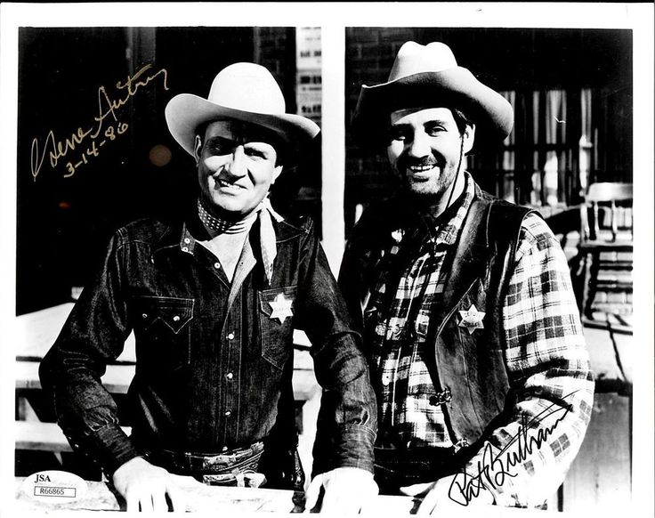 GENE AUTRY & PAT BUTTRAM (DECEASED) SIGNED 8X10 JSA AUTHENTICATED COA #R66865