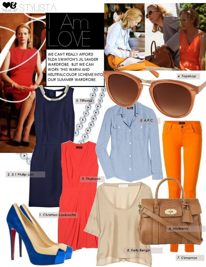"""""""I Am Love"""" clothes. I even adore the tangerine pants!"""