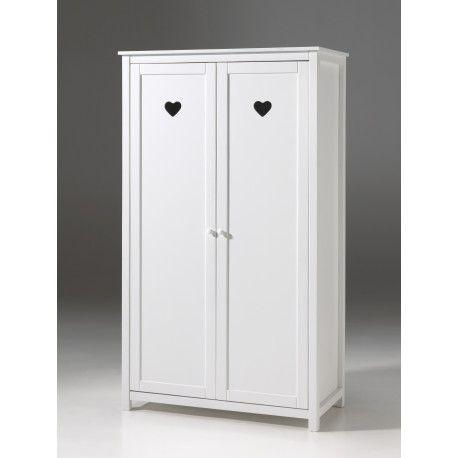 Cette armoire est idéale pour habiller la chambre de votre fille! Sa couleur en blanc laqué et son bois (panneau de particules) vous garantiront élégance mai...
