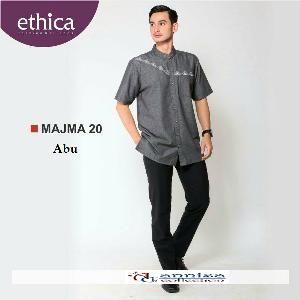 Baju Kemeja Pria Koko Majma 20 Hitam - Ramadhan Sale