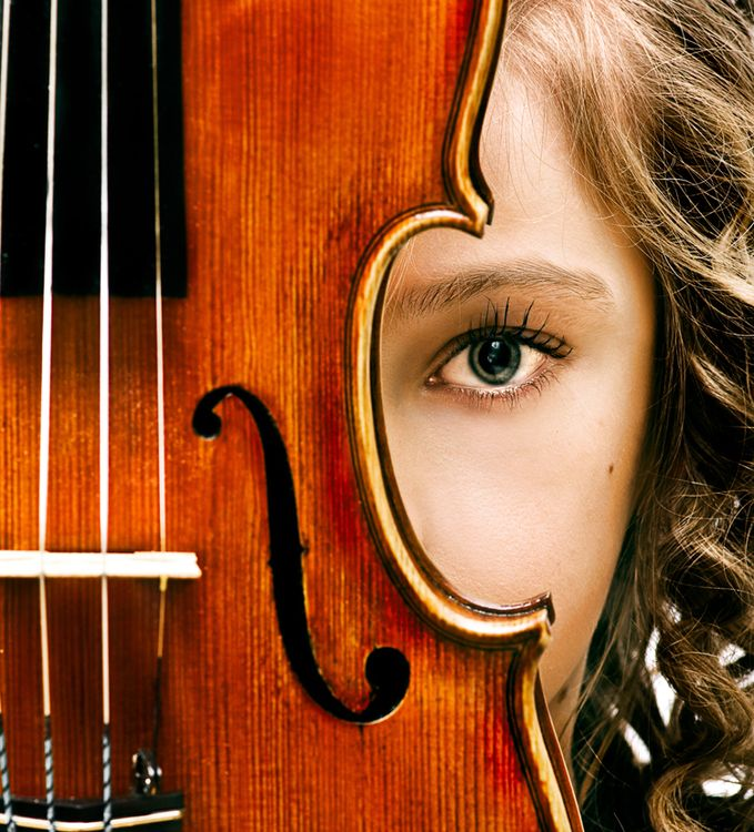 "Portrait of girl with her violin. ""The true mission of the violin is to imitate the accents of the human voice, a noble mission that has earned for the violin the glory of being called the king of..."