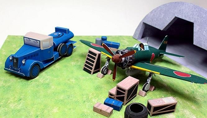PAPERMAU: WW2`s Japanese Fuel Truck And Acessories - by Paper Model Studio