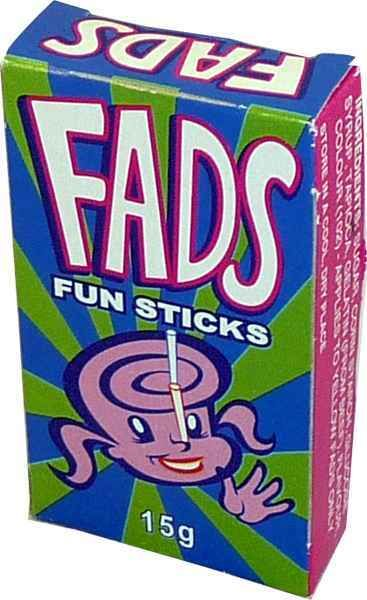 Fads Fun Sticks and other lollies and sweets now at The Professors Online Lolly Shop
