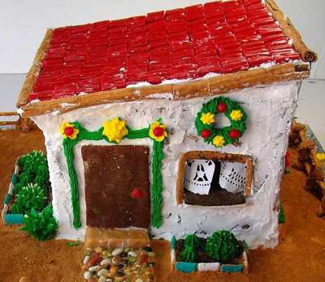 Cómo hacer una casa estilo mexicano de pan de jengibre: Una casa de pan de jengibre -- un proyecto realizable