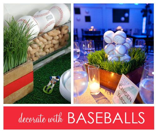 Baseball Centerpieces