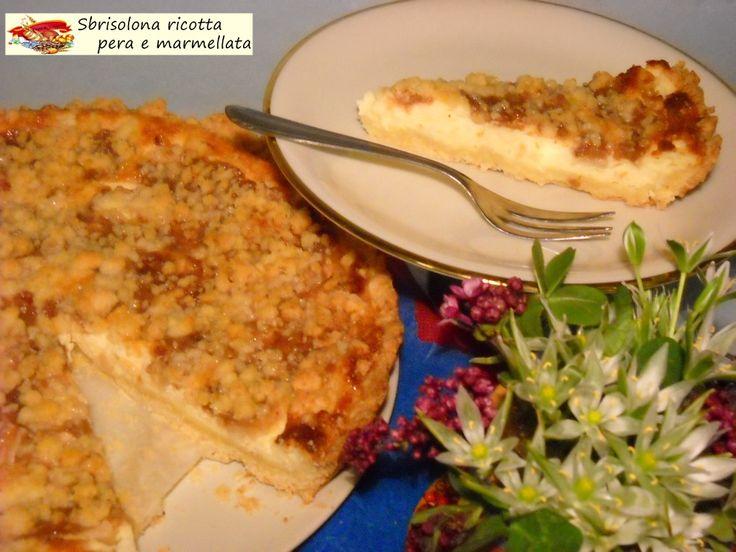 Sbrisolona+ricotta+pere+e+marmellata