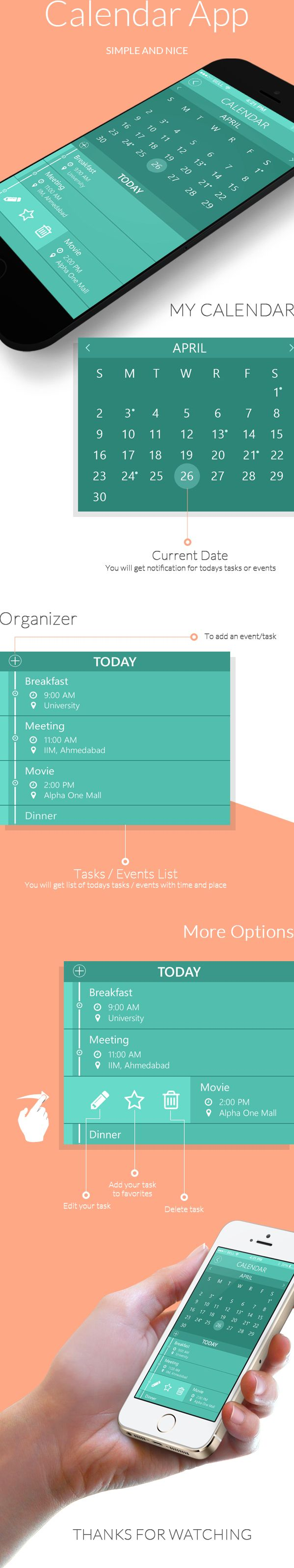 Calendar App on Behance