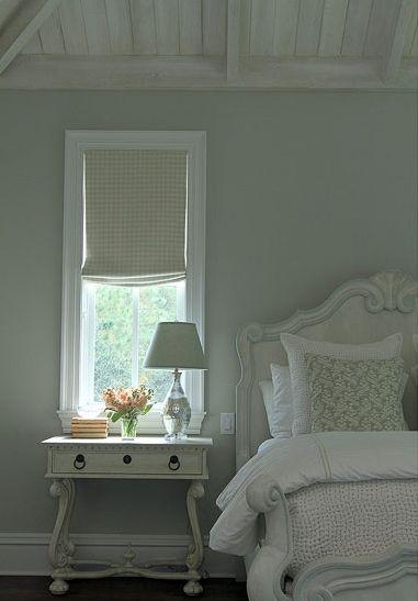 rustic bedroom green walls | source: Andrew Howard interior Design Sophisticated ...