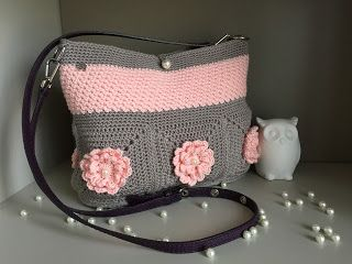 El Búho Crochet : Bolso mod. Wildflower Abril