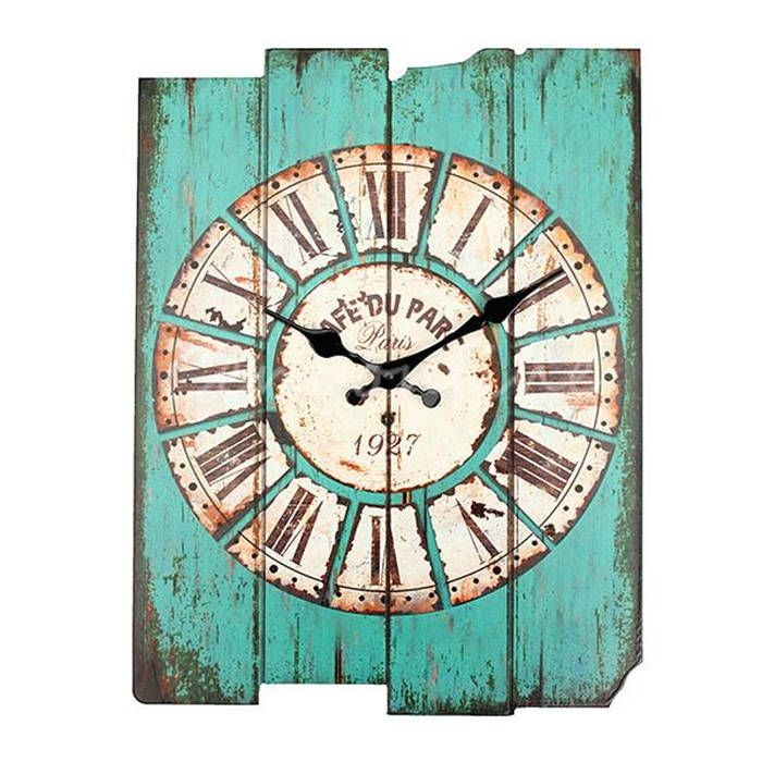 Beauty Stylish Retro Vintage Rustic Wall Clock Shabby Chic Home Office Coffeeshop Bar Decoration Best Gift Craft Classical