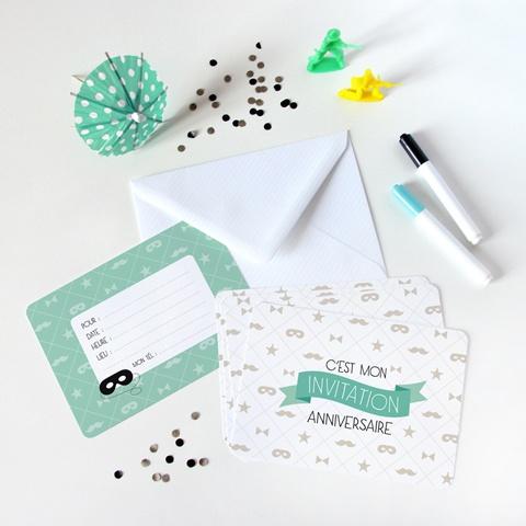 Une jolie carte d'invitation pour un anniversaire <3