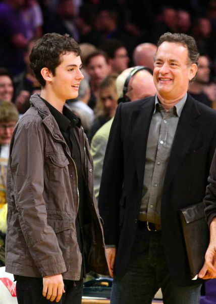 Tom Hanks and his youngest son Truman