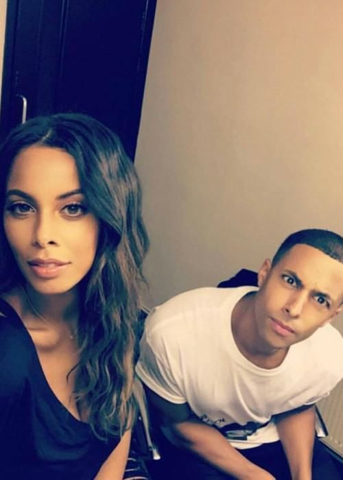 Marvin Humes and Rochelle Humes in a selfie in October 2016...
