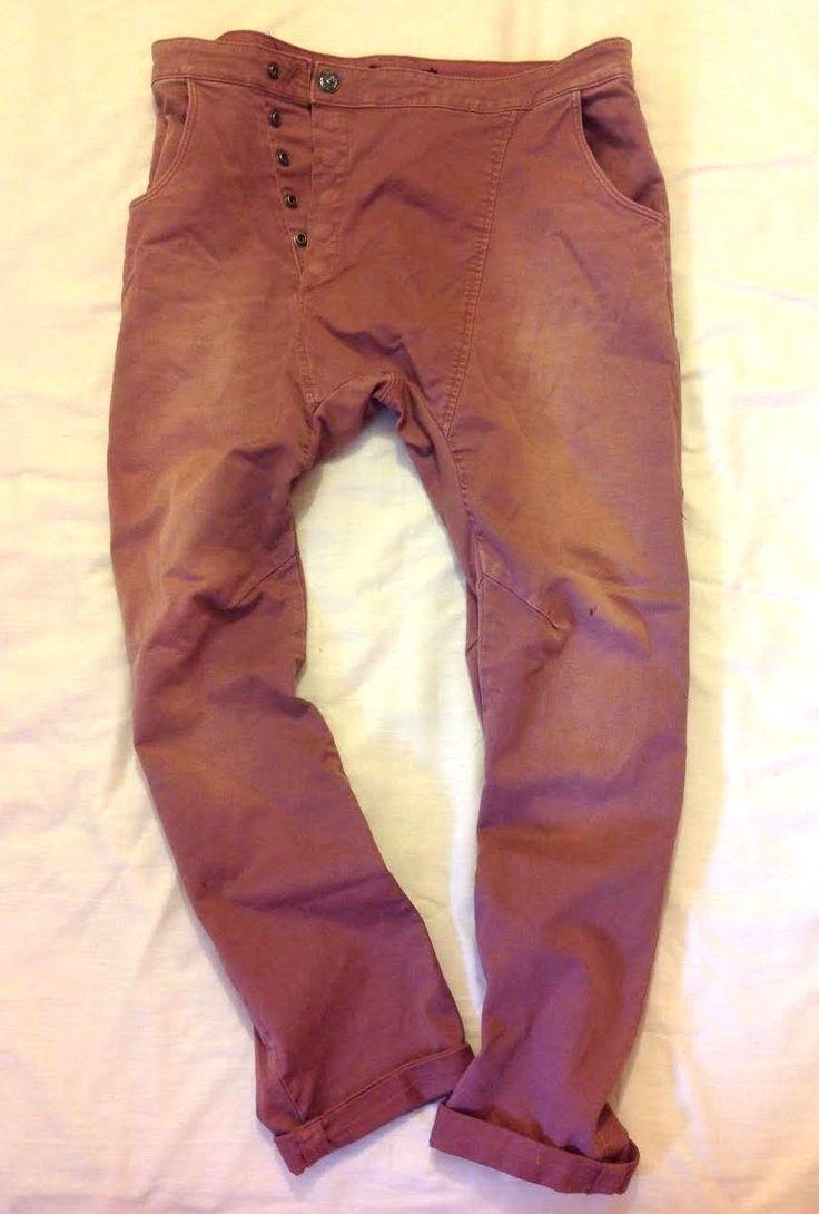maison scotch soda jeans maroon distressed-look lazy slouchy boyfriend grunge | eBay
