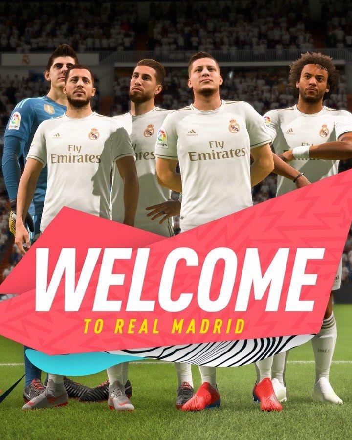 Welcome To Madrid Realmadrid Hazardeden 10 Lukajovic Easports Fifa20 Ps4 Instagram Com Ea Sports Fifa Ea Sports Fifa